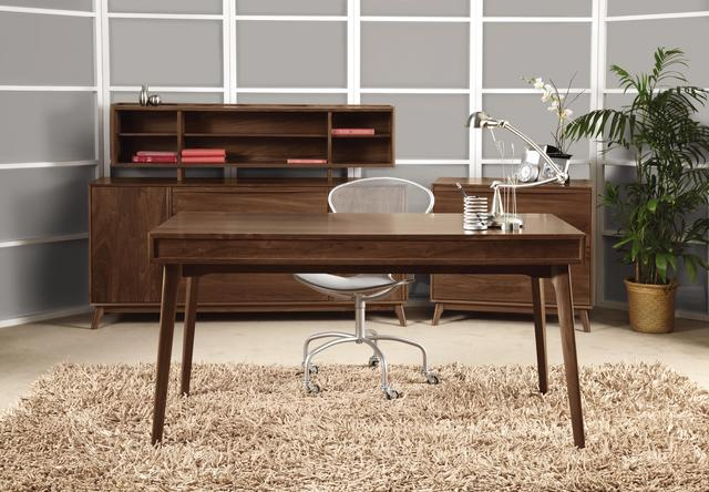 Solid wood office furniture cherry walnut oak maple for Home office configurations