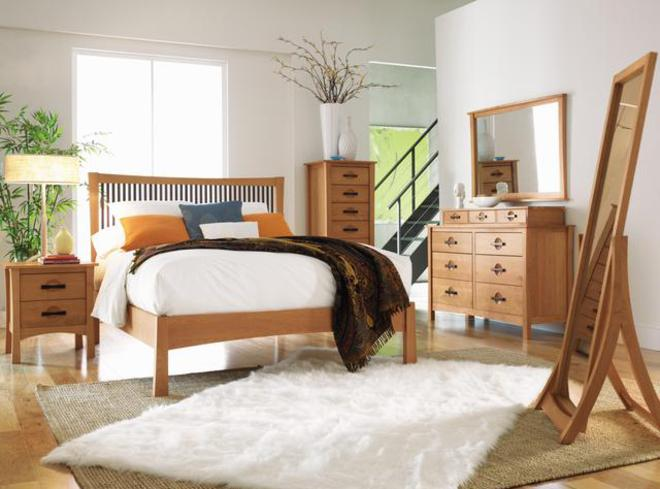 Handmade American Fine Wood Bedroom Furniture Modern